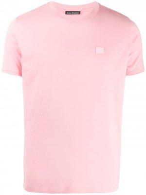 Базовая футболка Acne Studios. Цвет: розовый