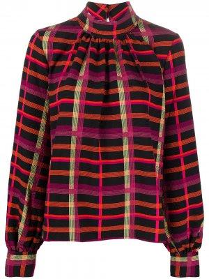 Блузка с абстрактным принтом и длинными рукавами Stine Goya. Цвет: черный