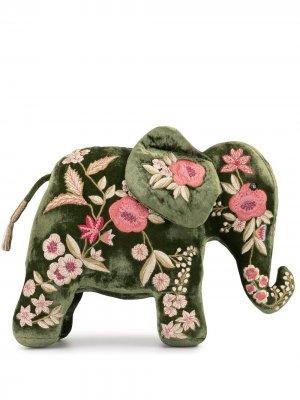 Мягкая игрушка с цветочной вышивкой Anke Drechsel. Цвет: зеленый
