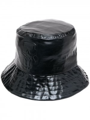 Панама с эффектом металлик Karl Lagerfeld. Цвет: черный