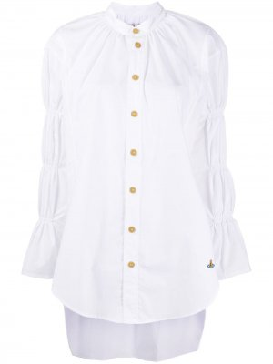 Рубашка из органического хлопка с ярусными рукавами Vivienne Westwood Anglomania. Цвет: белый