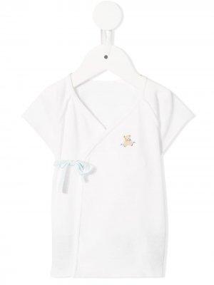 Блузка с запахом Familiar. Цвет: белый