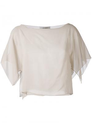 Полупрозрачная укороченная блузка D.Exterior. Цвет: нейтральные цвета