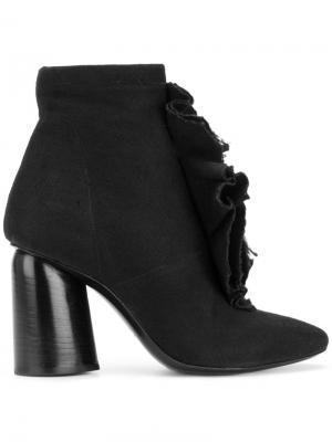 Ботинки с оборками Cinzia Araia. Цвет: черный