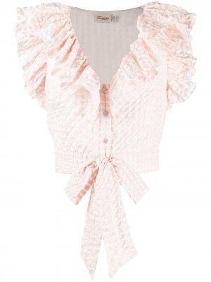 Рубашка Tamara с оборками Temperley London. Цвет: розовый