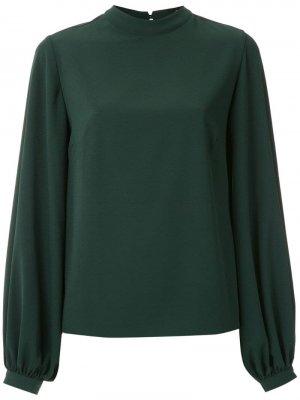 Блузка с воротником-стойкой Olympiah. Цвет: зеленый