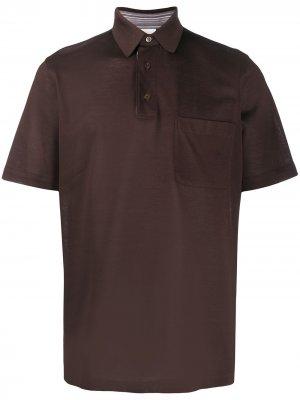 Рубашка поло из ткани пике Brioni. Цвет: коричневый