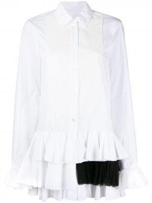Рубашка с оборками Viktor & Rolf. Цвет: белый