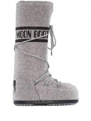 Ботинки Swarovski Moon Boot. Цвет: серебристый