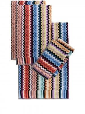 Комплект Adam из пяти полотенец Missoni Home. Цвет: синий