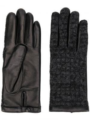 Перчатки с кожаными вставками Agnelle. Цвет: черный