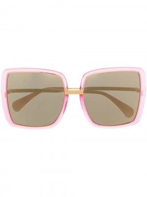 Солнцезащитные очки в квадратной оправе Gucci Eyewear. Цвет: розовый
