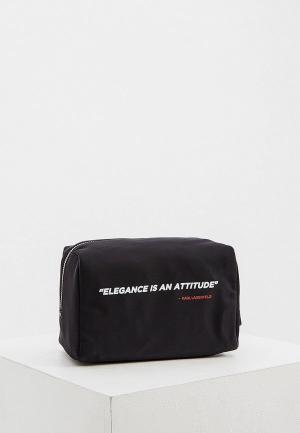 Косметичка Karl Lagerfeld. Цвет: черный