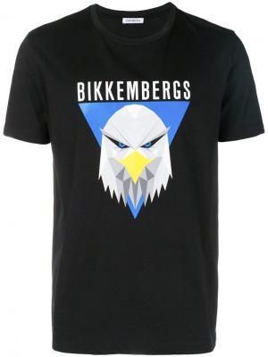 Logo print T-shirt Dirk Bikkembergs. Цвет: черный