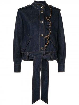 Куртка Coriolis с оборками Karen Walker. Цвет: синий