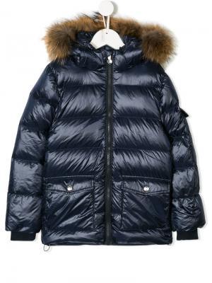 Padded hooded coat Pyrenex Kids. Цвет: синий