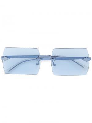 Солнцезащитные очки  Bird Karen Walker. Цвет: синий