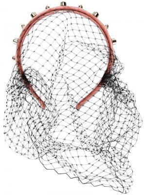 Обруч для волос с вуалью Red Valentino. Цвет: нейтральные цвета
