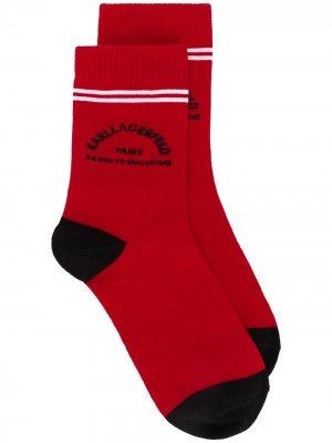 Комплект носков Rue St Guillaume Karl Lagerfeld. Цвет: красный