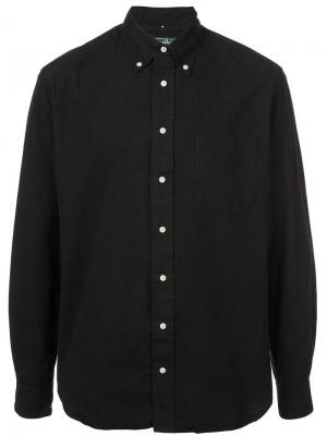 Классическая фланелевая рубашка Gitman Vintage. Цвет: черный