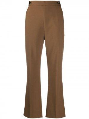 Укороченные расклешенные брюки Marni. Цвет: коричневый