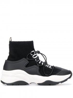 Кроссовки-носки со вставками Versace Jeans Couture. Цвет: черный