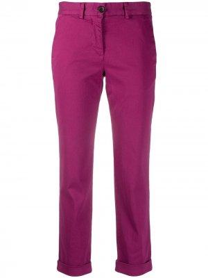 Укороченные брюки кроя слим PS Paul Smith. Цвет: розовый