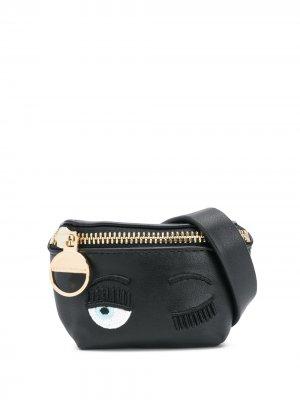 Декорированная сумка с ремешком-браслетом Chiara Ferragni. Цвет: черный