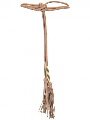 Регулируемый ремень с завязками Carolina Herrera. Цвет: коричневый