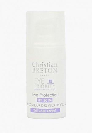 Крем для кожи вокруг глаз Christian Breton Paris. Цвет: белый