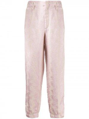 Укороченные брюки с жаккардовым принтом Forte. Цвет: розовый