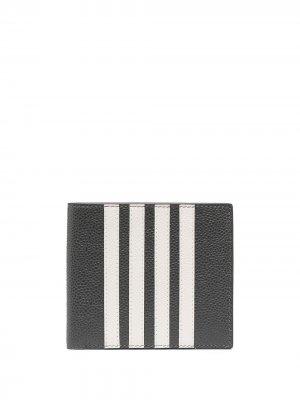 Картхолдер с полосками 4-Bar Thom Browne. Цвет: серый
