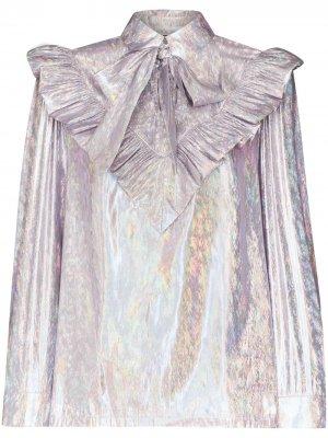 Блузка Carol с эффектом металлик Batsheva. Цвет: фиолетовый