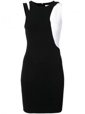 Приталенное платье с вырезом Karla Alice+Olivia. Цвет: черный