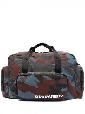 Спортивная сумка с камуфляжным принтом Dsquared2. Цвет: синий