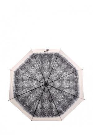Зонт складной Desigual. Цвет: серый