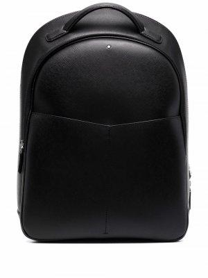 Фактурный рюкзак с логотипом Montblanc. Цвет: черный
