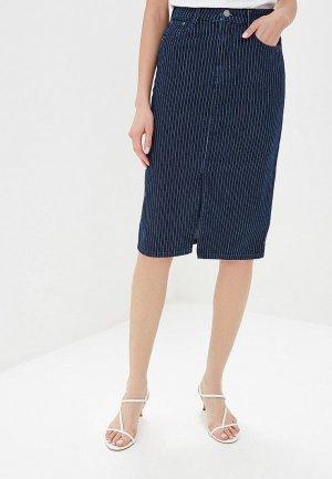 Юбка джинсовая Marks & Spencer. Цвет: синий