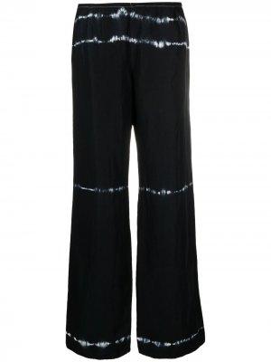 Широкие брюки 2000-х годов с принтом тай-дай Giorgio Armani Pre-Owned. Цвет: синий