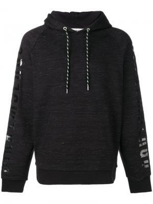 Sleeve print hoodie Dirk Bikkembergs. Цвет: черный