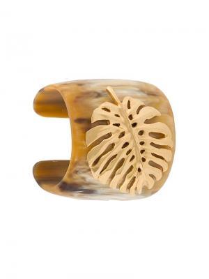 Leaf Horn cuff Oscar de la Renta. Цвет: нейтральные цвета
