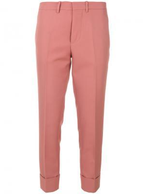 Укороченные брюки с завышенной талией Marni. Цвет: розовый