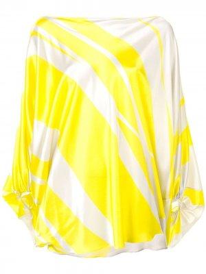 Драпированная блузка Silvia Tcherassi. Цвет: желтый