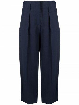Укороченные брюки прямого кроя Merci. Цвет: синий