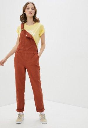 Комбинезон джинсовый BlendShe. Цвет: коричневый