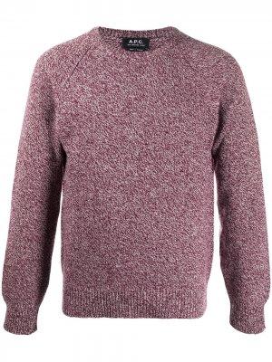 Пуловер Pablo с длинными рукавами A.P.C.. Цвет: красный
