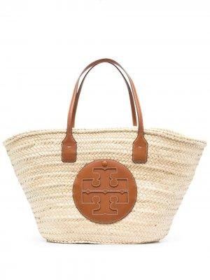 Пляжная сумка Ella Tory Burch. Цвет: нейтральные цвета