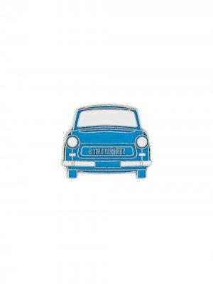 Брошь в форме машины Yohji Yamamoto. Цвет: синий