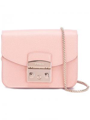 Сумка-футляр через плечо Furla. Цвет: розовый и фиолетовый