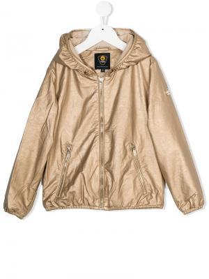 Приталенная куртка на молнии Ciesse Piumini Junior. Цвет: металлик